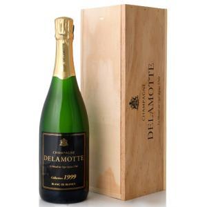 木箱入り ブラン ド ブラン コレクション [1999] ドゥラモット   (泡 白) (ワイン(=750ml)4 本と同梱可)|takamura