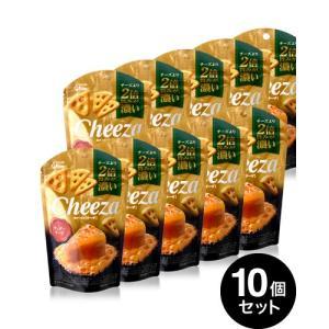 10個入りセット 生チーズのチーザ チェダーチーズ/Cheeza(40g)(グリコ)【賞味期限:2019年11月30日】|takamura