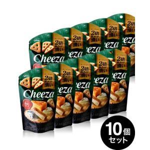 10個セット 生チーズのチーザ 4種のチーズ/Cheeza(40g)(グリコ) 【賞味期限:2019年11月30日】|takamura