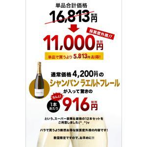 送料無料  第3弾 有名シャンパンも入って驚きの1本あたり917円(税別)!スーパー豪華&破格スパークリングワイン 12本セット!!|takamura|02