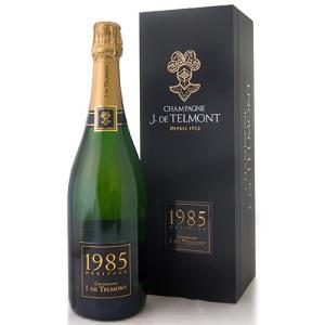 箱入り ブリュット ミレジメ エリタージュ[1985]J.ド テルモン(泡 白)(ワイン(=750ml)8本と同梱可)|takamura
