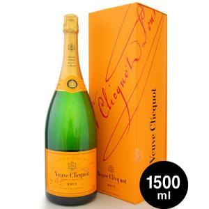 マグナムボトル 正規 箱入り ヴーヴ クリコNVイエロー ラベル1500ml(泡 白)(ワイン(=750ml)4本と同梱可)|takamura