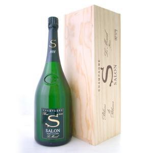 【マグナムボトル】【オリジナル木箱入り】 サロン[2006]マグナム・1500ml(泡・白)[S] (ワイン(=750ml)4本と同梱可) takamura