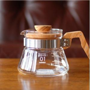 ハリオ(HARIO)コーヒーサーバー 400mlオリーブウッド(VCWN-40-OV)|takamura
