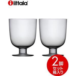 【箱入り】【2脚セット】イッタラ レンピ(iittala Lempi)グレー(1〜2箱迄、ワイン(=750ml)10本と同梱可) takamura