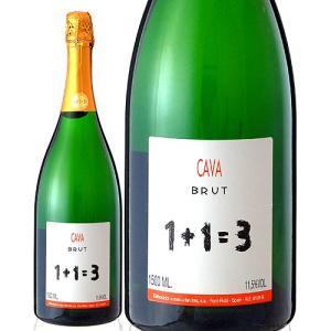 【マグナムボトル】1+1=3(ウ・メス・ウ・ファン・トレス)ブリュットNVマグナム1500ml(泡・白)(ワイン(=750ml)10本と同梱可)|takamura