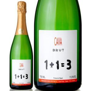 1+1=3(ウ・メス・ウ・ファン・トレス)カヴァ・ブリュットNV(泡・白)|takamura