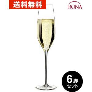 送料無料  ロナ RONA クラシック シャンパーニュ6脚セット (ワイングラス RONAシリーズ プレステージ prestige) (ワイン(=750ml)6本と同梱可)|takamura