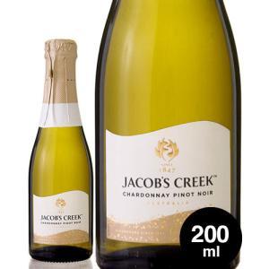ジェイコブス クリーク  シャルドネ ピノ ノワール ブリュット NV200ml(泡 白) (1〜2本迄、ワイン(=750ml)11本と同梱可)|takamura