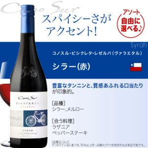 送料無料 好きな品種がよりどり選べる♪10本自由な組み合わせ!コノスル ビシクレタ レゼルバ(ヴァラエタル)アソート10本ワインセット takamura 06