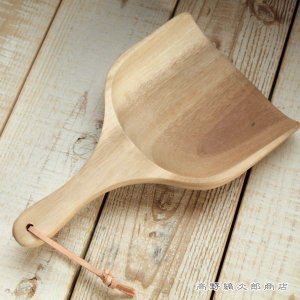 木の食器 ACAAIA WOOD ダストパン ナチュラル  天然木 珈琲道具 コーヒー 雑貨 D|takano-coffee