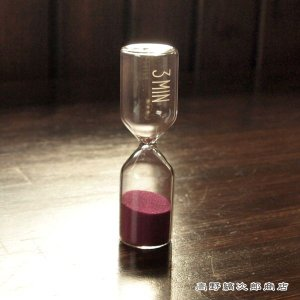 3分計 lows パープル サンドタイマー 紫 砂時計 タイマー 珈琲道具 コーヒー 雑貨 E|takano-coffee