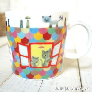 猫マグカップ 雑貨 食器 E.minetteミネットマグ 屋根 cat CAT コーヒーカップ E|takano-coffee