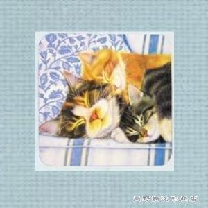 ネコ食器 イタリアンコースター4枚セット 猫 雑貨【レターパックプラス可】D|takano-coffee