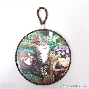 ねこ食器 セラミックCATトリベット ガーデンキャット 猫 雑貨  鍋敷き【レターパックプラス可】D|takano-coffee