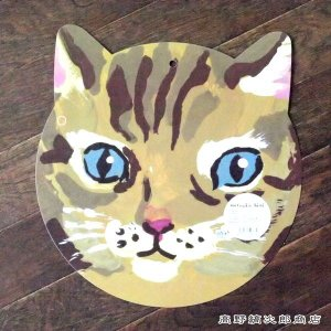 ランチョンマット Douce NathalieLete 茶猫 ブラウン 雑貨 食器  E|takano-coffee