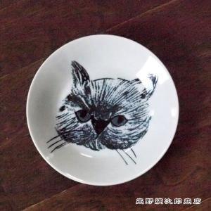 プレートS 松尾ミユキ Metsa Blackcat グレイ CAT 雑貨 中皿 ケーキ皿 食器  E|takano-coffee
