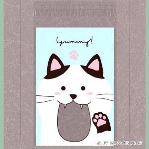 CAT くいしんぼうクリアバッグ VBお口いっぱい ハチワレネコ 猫 雑貨【レターパックプラス可】【メール便可】A|takano-coffee