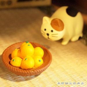 アウトレット concombreかご盛みかん 三毛猫 ねこ 雑貨【レターパックプラス可】C takano-coffee