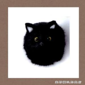 デコアニマルマグネット キャットフェイス BK ブラック 黒猫 雑貨【レターパックプラス可】C takano-coffee