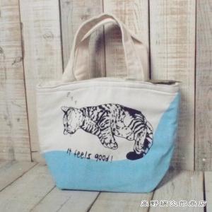 ミニトートバッグ 保冷トートバッグ ぐっすりネコ cat 猫 雑貨【レターパックプラス可】D takano-coffee