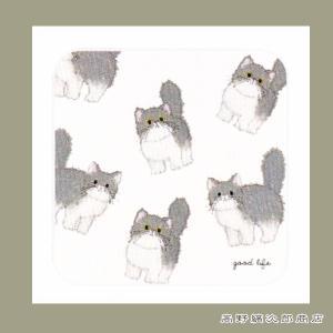 米津祐介ハンドタオル ネコ 猫 雑貨【レターパックプラス可】C|takano-coffee