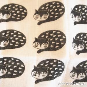 かやふきん 松尾ミユキ cat ディシュクロス かや生地ふきん  猫 キッチン 雑貨【レターパックプラス可】【メール便可】B|takano-coffee|12