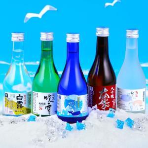 お中元 暑中見舞い 2021 酒 日本酒 夏の冷酒 飲み比べセット 300ml 5本 辛口 小瓶 ミ...
