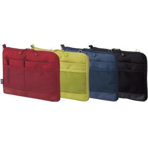 タブレットPCに優しい起毛生地ポケットが付いた薄型バッグインバッグです。 製造国:カンボジア 素材・...