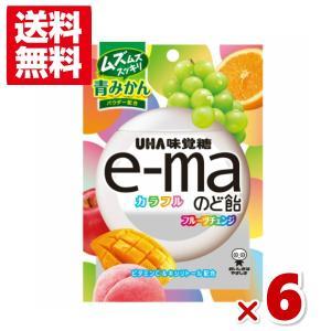 (メール便全国送料無料)味覚糖e−maのど飴袋 カラフルフルーツチェンジ 50g×6入|takaoka
