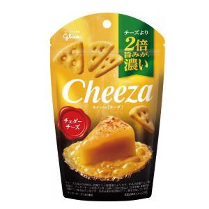 (本州一部送料無料) 江崎グリコ チーズより2倍旨みが濃い 生チーズのチーザ チェダーチーズ  (1...
