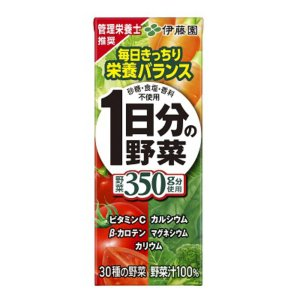 伊藤園 1日分の野菜 紙パック 200ml 24入(飲料) 本州一部送料無料|takaoka