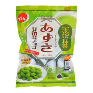でん六 66g あずき甘納豆チョコ(抹茶) 12入 (Y80) (ケース販売)|takaoka