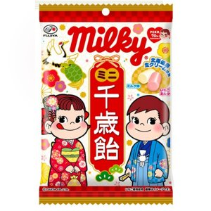 不二家 ミルキーミニ千歳飴袋 6入 (七五三)*|takaoka