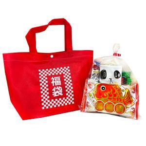 お菓子詰め合わせ カジュアルトート 特小 福袋柄 1袋 300円(LB009)|takaoka