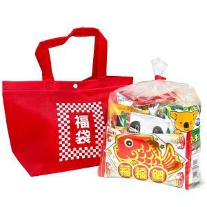 ■赤色のミニトートバッグに福袋と書かれた袋にお菓子を詰め合わせました。 お正月や、成人式など、お祝い...