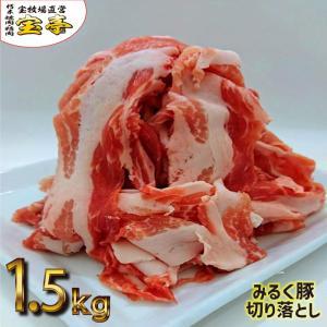 宝牧場 デイリーランキング全国1位 みるく豚 豚肉 冷蔵 切り落とし こま切れ  お得 大容量 宝亭
