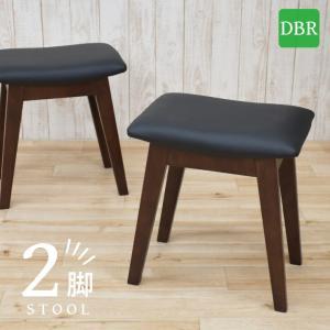 スツール 2脚セット ダークブラウン色 完成品 クッション 幅42cm 44cs128-2ch-360dbr ベンチチェア 玄関椅子 チェア サイドチェア 補助椅子 イス 3s-1k-128 hr|takara21