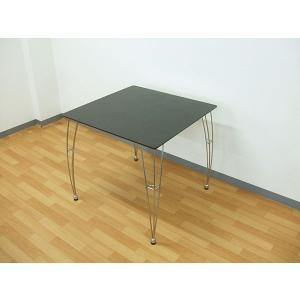 アウトレット 75ダイニングテーブル  北欧 ブラウン色 003-371 スチール脚 ベル|takara21