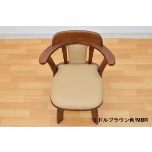 アウトレット 肘付きダイニングチェア  回転チェア 椅子 2脚入   morisu-360 ミドルブラウン ライトブラウン アームチェア 木製 コンパクトタイプ 161|takara21|04
