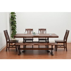 うずくりカントリーダイニングテーブルセット 6点 ナチュラル色 イス4 165ベンチ pet-368 北欧パイン 食卓161|takara21|04