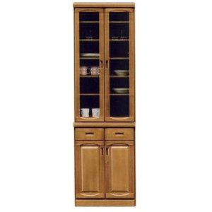 食器棚 幅60cm 高さ200cm ナチュラル色  開き戸 完成品 hid-239  ダイニングボード キッチン 収納|takara21