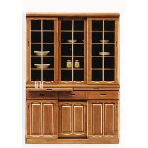 幅135cm 食器棚 引き戸 完成品 高さ180cm ナチュラル色 hid-239 スライド扉 ダイニングボード キッチン 収納|takara21