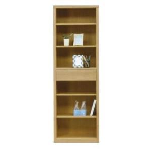 フリーボード 本棚 幅60 完成品 ハイタイプ ナチュラル色 ブラウン色 win-239 木製 引き出し ラック オープンラック シェルフ 書棚|takara21