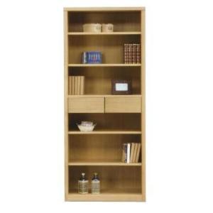 フリーボード 本棚 幅75 完成品 ハイタイプ ナチュラル色 ブラウン色 win-239 木製 引き出し ラック オープンラック シェルフ 書棚|takara21