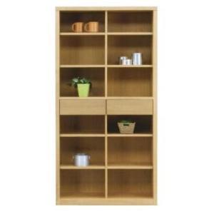 フリーボード 本棚 幅90 完成品 ハイタイプ ナチュラル色 ブラウン色 win-239 木製 引き出し ラック オープンラック シェルフ 書棚|takara21