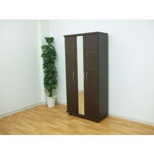 2人で搬入90 ハイシューズボックス 下駄箱 morisu ウォールナット ブラウン色 ボルドー 002-265国産 完成品|takara21