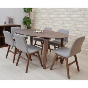 ダイニングテーブルセット 楕円 7点セット 幅180cm marut180-7-pani339wn ダイニングセット LGE色 6人用 北欧 アウトレット お客様組立品 31s-8k|takara21