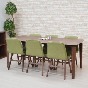 ダイニングテーブルセット 7点セット 幅180cm marut180kaku-7-pani339wn ダイニングセット GR色 6人用 北欧 アウトレット お客様組立品 31s-8k|takara21