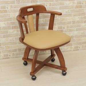 アウトレット ダイニングチェア キャスター付き 回転椅子 morut-ch-360 肘付 1脚セット 木製 アーム  ライトブラウン ミドルブラウン ワイド 取っ手 161|takara21|05